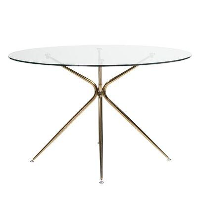 Berndt Dining Table Color: Brushed Copper