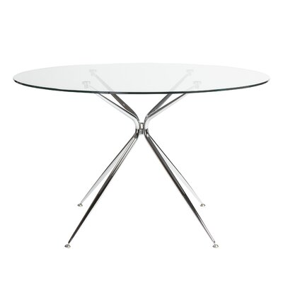 Berndt Dining Table Color: Chrome