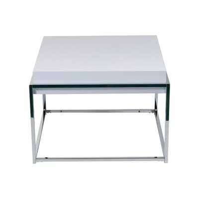 Cheap Eurostyle Greta End Table in Chrome / White (EY1905)