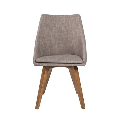 Calla Side Chair Upholstery: Charcoal