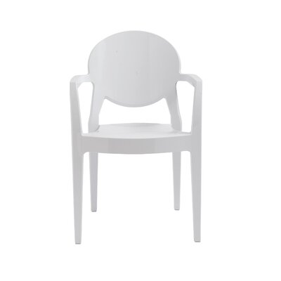 Igloo Arm Chair Finish: Gloss Steely White