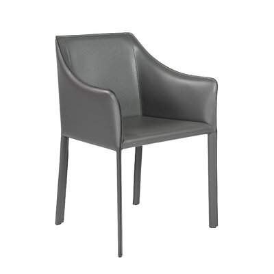 Willards Genuine Leather Upholstered Dining Chair