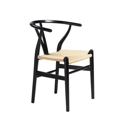 Stearns Solid Wood Dining Chair Frame Color: Black
