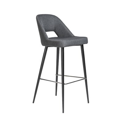 Odea 39.38 Bar Stool Leg Color: Black powder coated