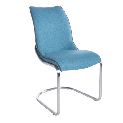 Woodsboro Upholstered Dining Chair Upholstery Color: Blue