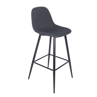 Quinlan 39.57 Bar Stool Upholstery: Charcoal