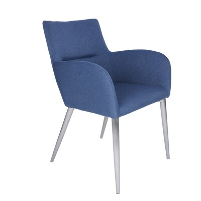 Nishant Upholstered Dining Chair Upholstery Color: Blue