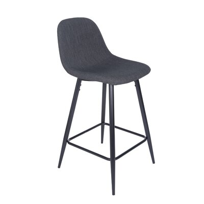 Quinlan 36.03 Counter Bar Stool Upholstery: Charcoal