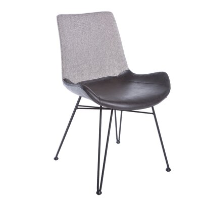 Obryant Upholstered Dining Chair Upholstery Color: Light Gray