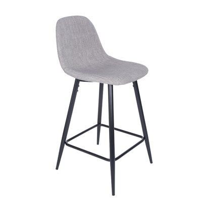 Quinlan 36.03 Counter Bar Stool Upholstery: Light Gray