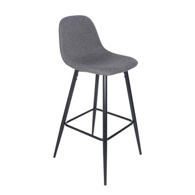 Quinlan 39.57 Bar Stool Upholstery: Dark Gray