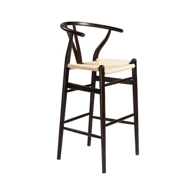 Stearns 42.92 Bar Stool Frame Color: Walnut