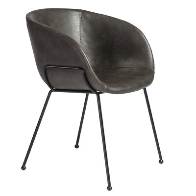 Padmore Upholstered Dining Chair Upholstery: Dark Gray