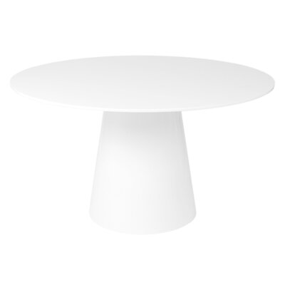 Lolley Round Dining Table Color: White