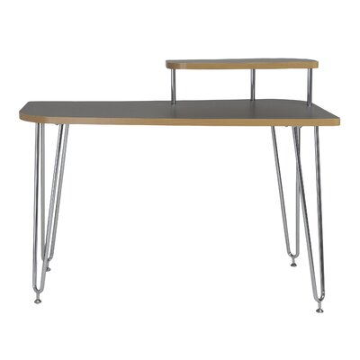 Eurostyle Hanh Writing Desk with Shelf - Color: Gray, Orientation: Right at Sears.com