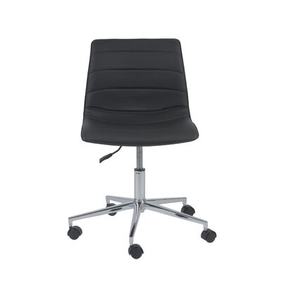 Ashton Adjustable Low-Back Office Chair Color: Black Product Photo 2547
