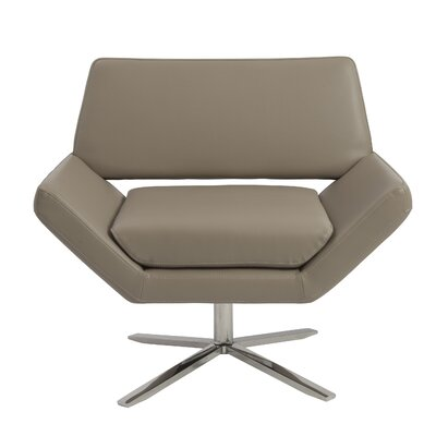 Eurostyle Carlotta Lounge Chair - Upholstery: Taupe Leatherette at Sears.com