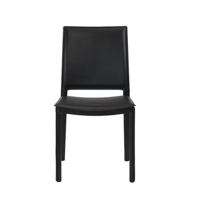 Darrin Side Chair Upholstery: Black