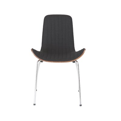 Uma Side Chair Upholstery: Black