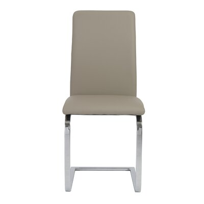 Cinzia Side Chair Upholstery: Taupe