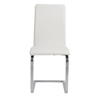 Cinzia Side Chair Upholstery: White