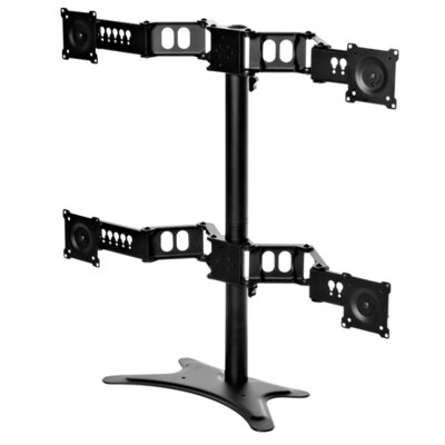 Height Adjustable Universal 4 Screen Desk Mount