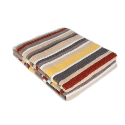 All Season Stripe Throw Blanket Size: 90 L x 80 W