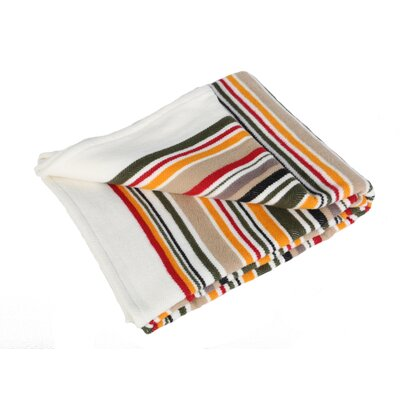 All Season Stripe Throw Blanket Size: 90 L x 80 W