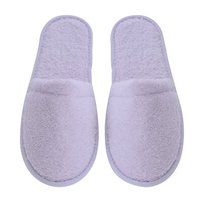 Womens Turkish Terry Cotton Cloth Bath Slippers Color: Lilac