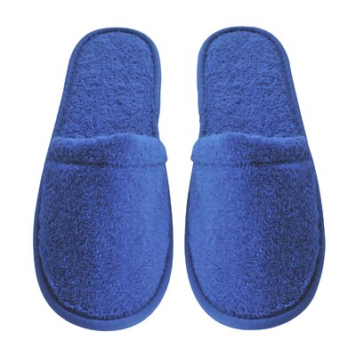 Womens Turkish Terry Cotton Cloth Bath Slippers Color: Royal Blue