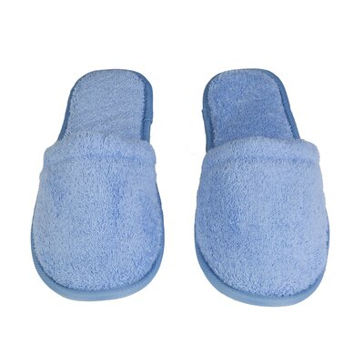 Womens Turkish Terry Cotton Cloth Bath Slippers Color: Sky Blue