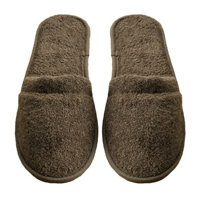 Mens Turkish Terry Cotton Cloth Bath Slippers Color: Chestnut
