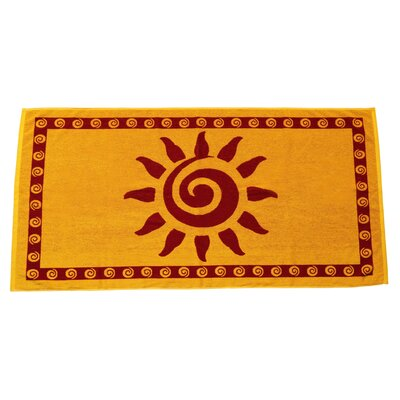 Sun Terry Turkish Cotton Beach Towel Color: Gold