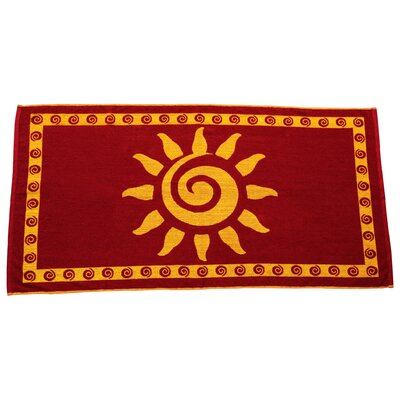 Sun Terry Turkish Cotton Beach Towel Color: Burgundy