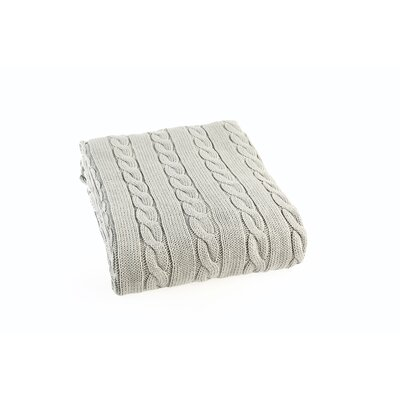 Luxury Cotton Cable Knit Throw Blanket Color: Sage