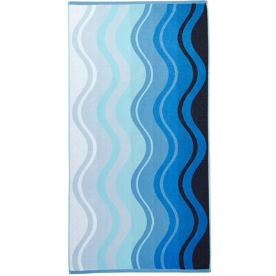 Waves Terry Turkish Cotton Beach Towel