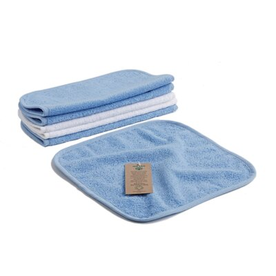 Baby Organic Turkish Cotton 6 Piece Towel Set Color: Blue