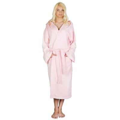 Skidmore Womens Turkish Terry Cotton Cloth Bathrobe Color: Pink, Size: Small/Medium