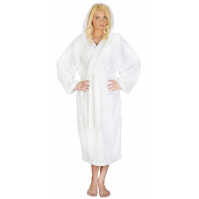 Skidmore Womens Turkish Terry Cotton Cloth Bathrobe Color: White, Size: Small/Medium