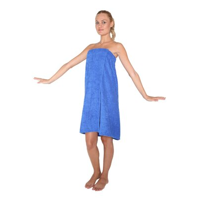 Womens Adjustable Closure on Chest Turkish Organic Cotton Spa Shower Bath Wrap Color: Royal, Size: 59 L x 30 W