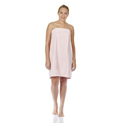 Womens Adjustable Closure on Chest Turkish Organic Cotton Spa Shower Bath Wrap Color: Pink, Size: 58 L x 28 W