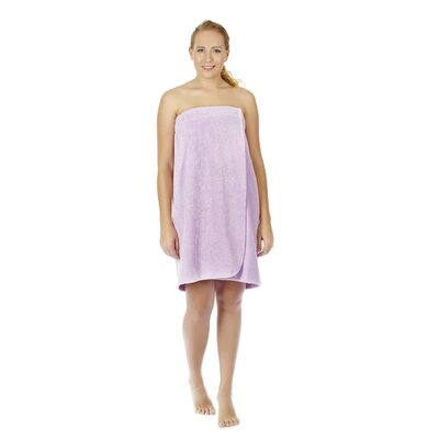 Womens Adjustable Closure on Chest Turkish Organic Cotton Spa Shower Bath Wrap Color: Lilac, Size: 61 L x 33 W
