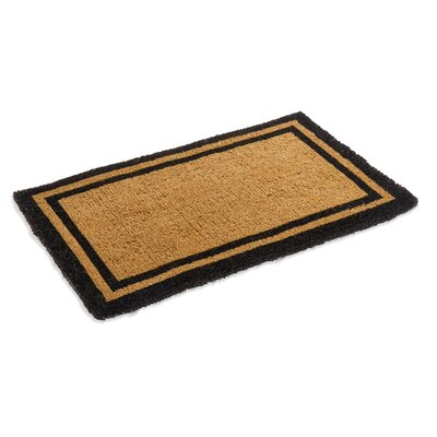 Alleffra Border Doormat Mat Size: Rectangle 26 x 4, Color: Black