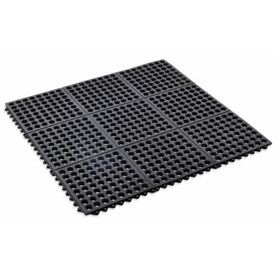 Anti Fatigue Interlocking Utility Mat Color: Black