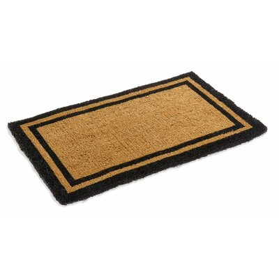 Alleffra Border Doormat Rug Size: Rectangle 3 x 5, Color: Black