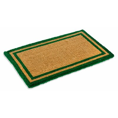 Alleffra Border Doormat Mat Size: Rectangle 110 x 3, Color: Green