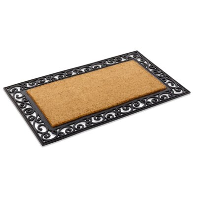 Inlaid Scroll Border Doormat