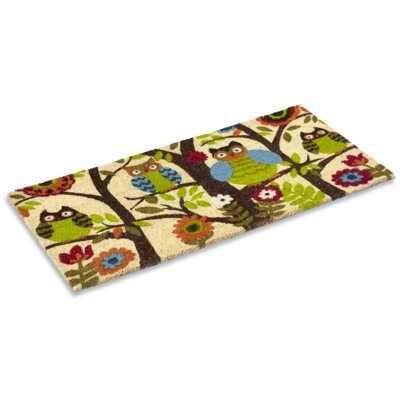 Forest Owl Doormat Rug Size: Rectangle 16 x 26