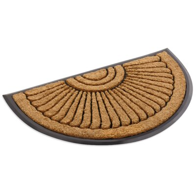 Inlaid Sunray Doormat Rug Size: Semi-Circle 16 x 26