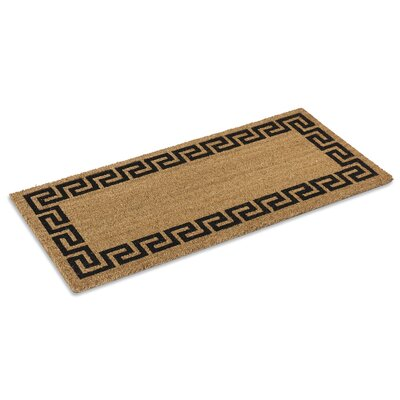 Greek Key Doormat Mat Size: Rectangle 16 x 26